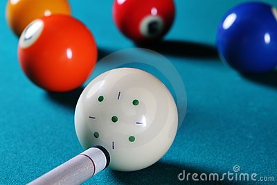 Billiard table.