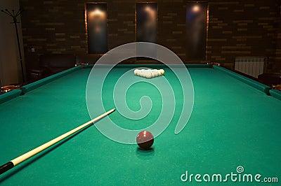 Billiard table in a night club