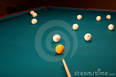 Billiard table - playing.