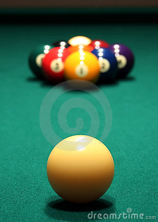Free Billiards: 9-Ball Rack Royalty Free Stock Images - 698639
