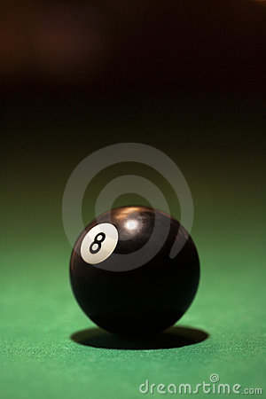 Billiards eight ball.