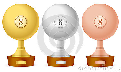 Billiards trophy set