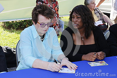 Billie Jean King Editorial Image