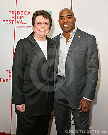 Billie Jean King and Tiki Barber Editorial Stock Photo