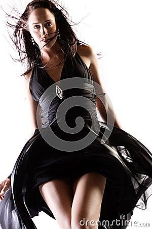 Billowing dress