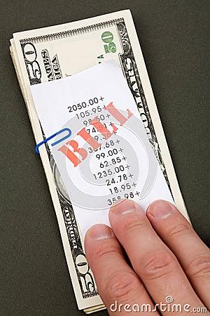 Bills and dollars