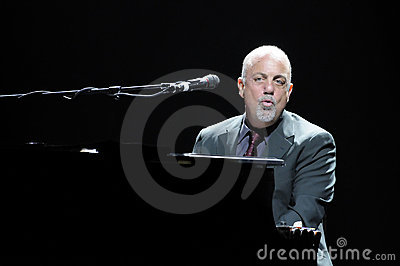 Billy Joel performing live. Editorial Stock Image