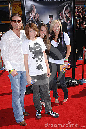 Billy Ray Cyrus, Miley Cyrus Editorial Stock Photo