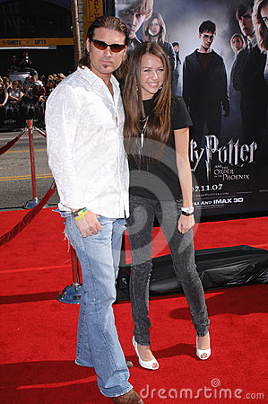 Billy Ray Cyrus, Miley Cyrus Editorial Stock Image
