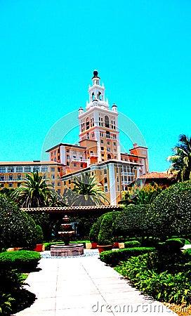 Biltmore Hotel And Gardens Coral Gables Florida Stock
