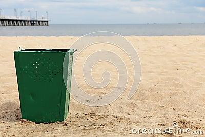 Bin garbage at beach