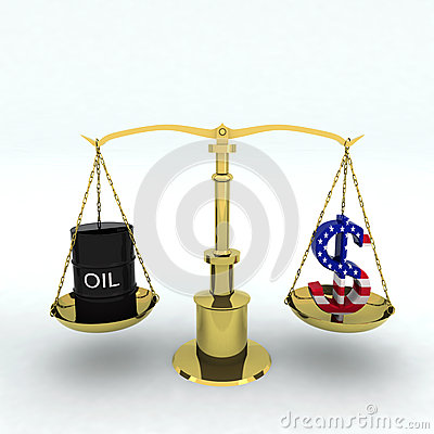 Bin oil and dollar
