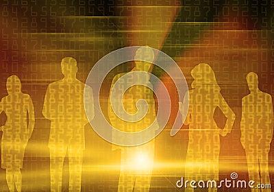 Binary Business People