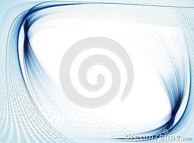 Binary code data flow, blue wavy border