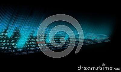 Binary Code glows