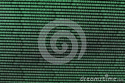 Binary Code in Green on TFT