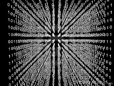 Binary code matrix in cube