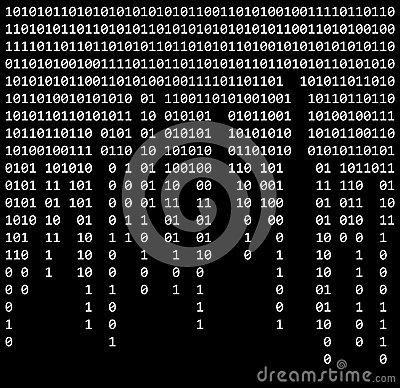 Free Binary Code Zero One Matrix Black Background Beautiful Banner Wa Stock Photography - 86363972