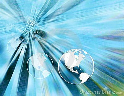 Binary earth globes ( light blue )