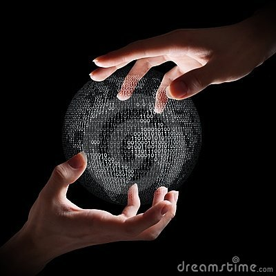 Free Binary Earth In Hands Stock Image - 18958941