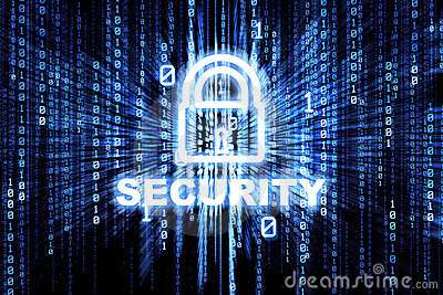 Binary Security Lock Stock Photography - Image: 9103312