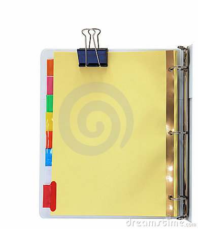 Free Binder And Metal Clips Royalty Free Stock Photos - 12835118
