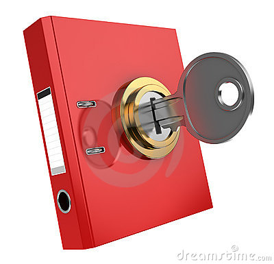 Binder folder locked
