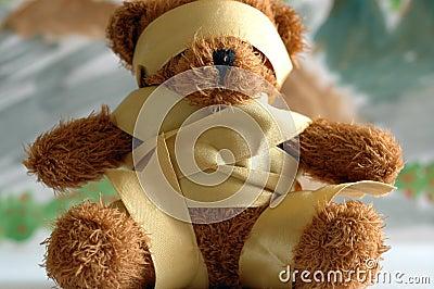 Binding bear toy.