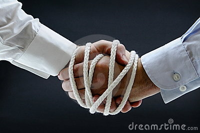 Binding business handshake