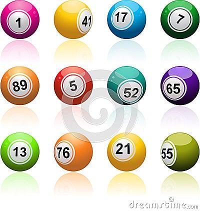 Free Bingo Ball Set Royalty Free Stock Images - 23992339