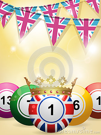 Bingo balls and bunting