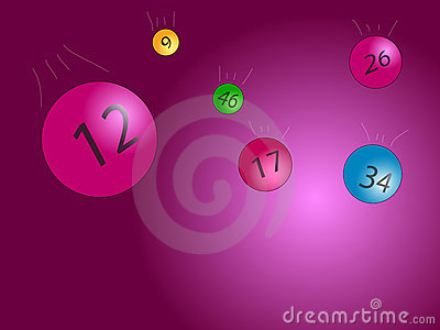 Bingo balls Vector illustration