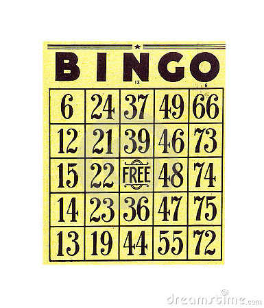 Free Bingo Card Royalty Free Stock Photography - 82087