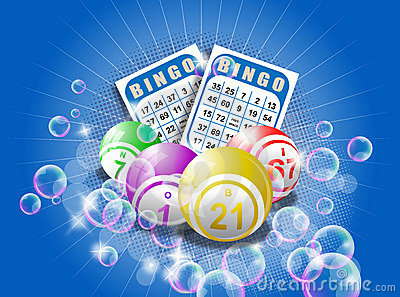 Bingo cards and balls