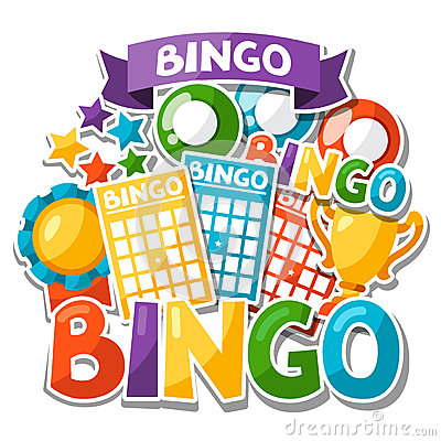 Bingo Or Lottery Game Background Stock Vector - Image: 62856848