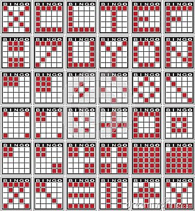 different bingo game patterns