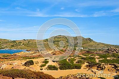 Binimela coast in Menorca