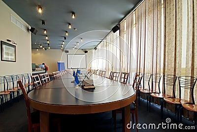 Binnenland van een ruimte voor vergaderingen
