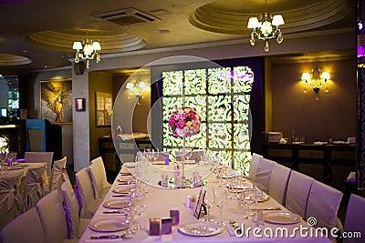 Binnenland van het restaurant