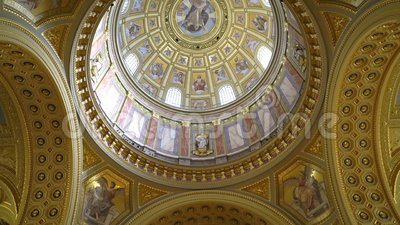Binnenland van St Stephen Basiliek Szent Istvan Bazilika stock footage