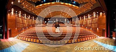 Binnenland van theater