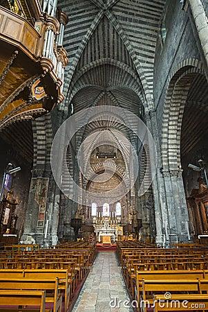 Binnenlandse kathedraal van Embrun,