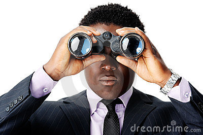 Binocular african man