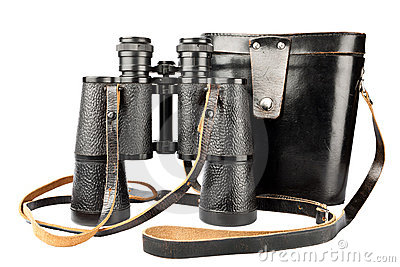 Binocular with case