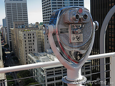 Binocular Los Angeles Editorial Stock Photo