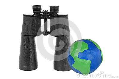Binoculars and Globe