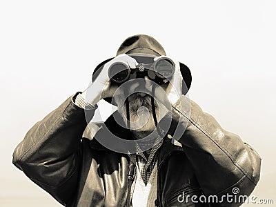 Binoculars - man explorer