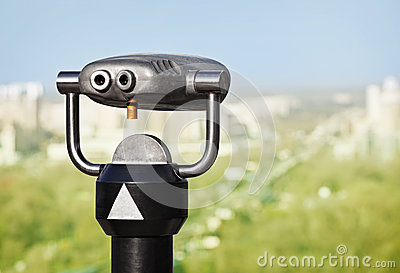 Binoculars to observe green city