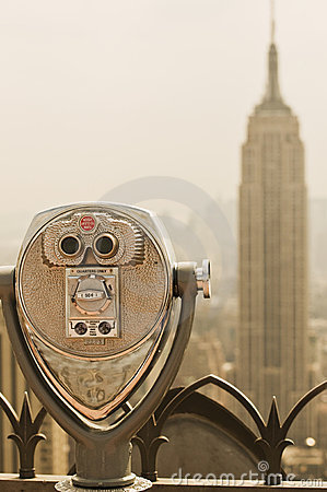 Binoculars viewing the Empire State Building