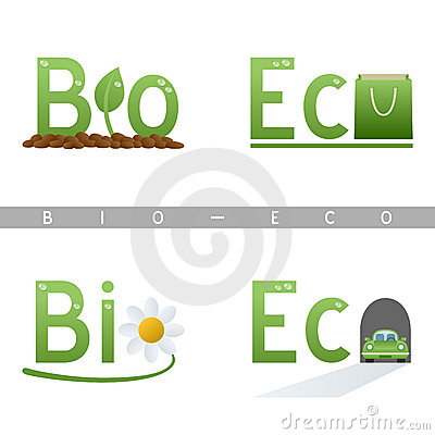 Bio & Eco Headline Logos